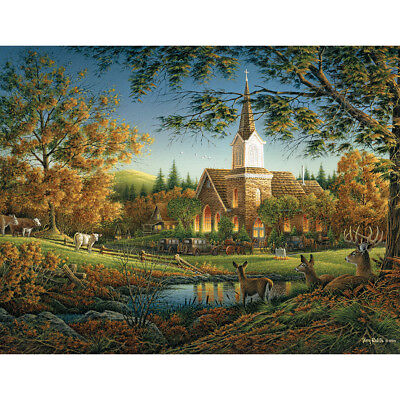 "Jigsaw Puzzle Terry Redlin 1000 Pieces 24""X30"" Sunday Morning WM723"