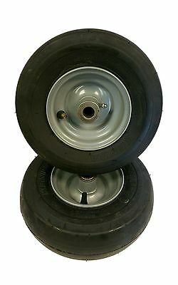 "Set of (2) 11X4.10-5 Tire & Rim 3/4"" Diameter 4 Ply Replaces 11X4.00-5 Gray"
