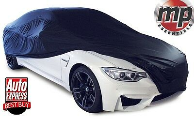 MPE Black Soft Breathable Fabric Indoor Garage & Showroom Full Car Cover - SMALL