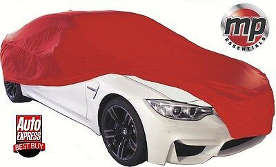 MPE Red Soft Breathable Fabric Indoor, Garage & Showroom Full Car Cover - SMALL