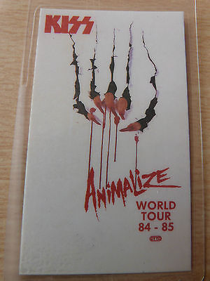 KISS Laminated Backstage Tour Pass - ANIMALIZE WORLD TOUR 1984-5