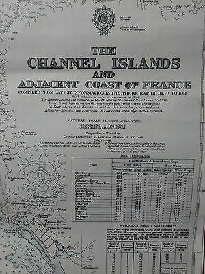 Nautical Chart No. 2669 of The Channel Islands and Adjacent Coast of France 1976