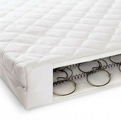 SPRING BABY MATTRESS SPRUNG & QUILTED COT BED MATTRESS 140 x 70 X 13 CM BABY
