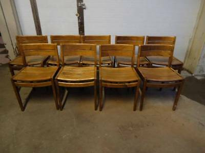 Mid Century Modern Nine(9) Nice Wh Gunlocke Rare Maple Chairs