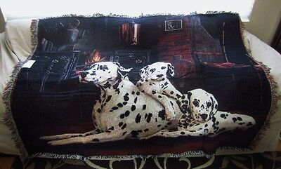 "Dalmatian Dog Tapestry Throw by Pure Country Weavers  54""x70"""