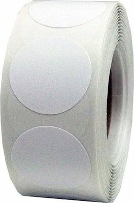 White Color Coding Labels Round Circle Dots 3/4 Inch 500 Total Adhesive Stickers