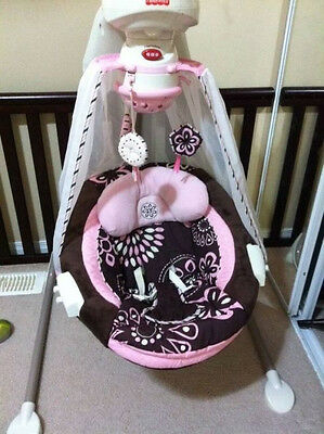 fisher price swing starlight Papasan cradle mocha butterfly replacement parts