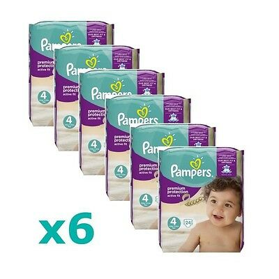 PAMPERS Active Fit Taille 4, 8 a 16kg 144 couches