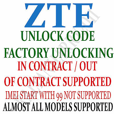 Unlock code service for Telstra 4GX Smart Telstra 4GX Plus ZTE Blade A462