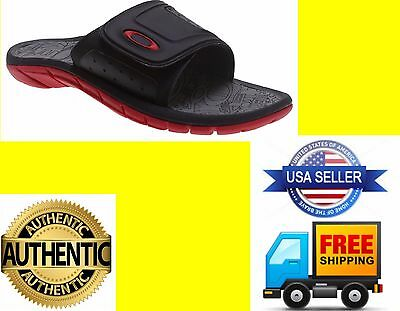 Oakley Supercoil Men Slides Sandals Shoes Black/Red size  9, 10,11,12,13