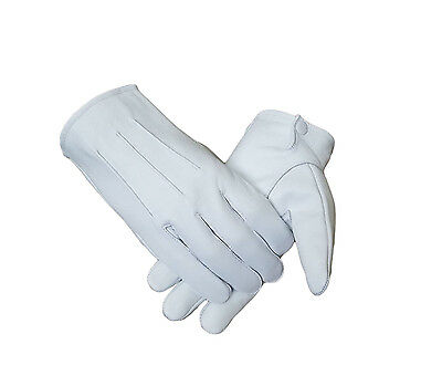 Honor Guard - Tuxedo - Parade White Leather Gloves