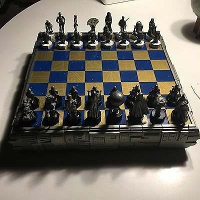 Danburry Mint Star Wars pewter chess set