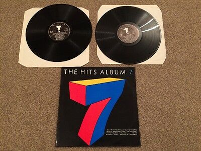 Hits 7 -  2 X LP Vinyl 1987 Compilation Album Ex Condition