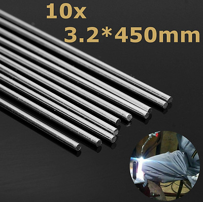 10pcs 450mm Aluminum Alloy Silver Welding Rods Tools For Cracks Polish & Paint