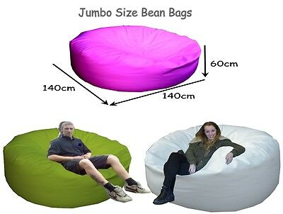 Faux Leather Jumbo Giant Beanbag - Polystyrene Beans Included - MADE IN THE UK