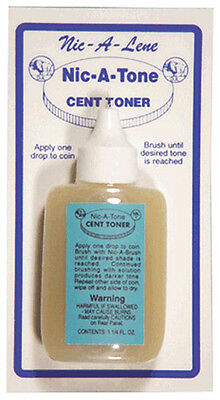Nic A Tone Coin Cent Toner for US Pennies 1.25 Oz Bottle Cleaner Free Shipping