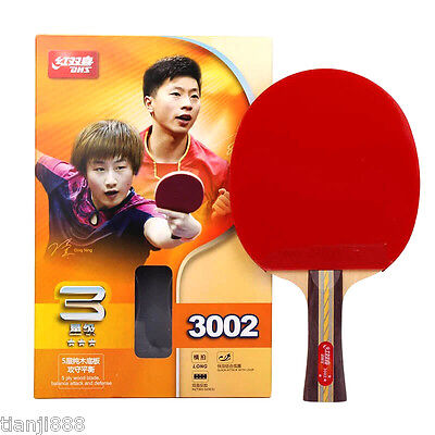 DHS Table Tennis Racket R3002, Ping Pong Paddle Shakehand