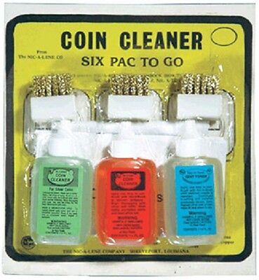 Nic A Pak Complete Coin Cleaner Cleaning Combo Kit Set A Tone Lene Rag Spray US