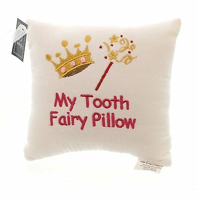 """6"""" x 6"""" Saying Pillow w/Pocket, My Tooth Fairy"""