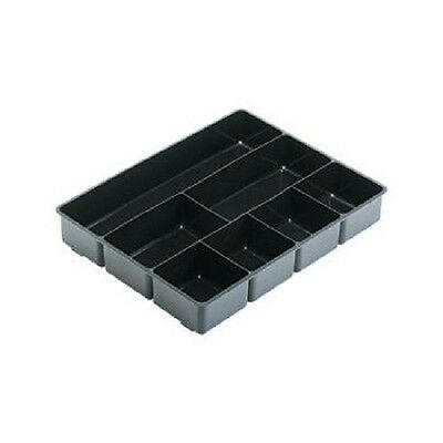 Rubbermaid Extra Deep Desk Drawer Organizer Tray - Black - 7 sections - NEW