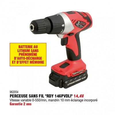 Perceuse visseuse dévisseuse 14,4V Lithium  - RONDY FRANCE