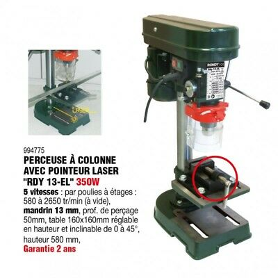Perceuse à colonne laser  13 mm 350w  - RONDY FRANCE