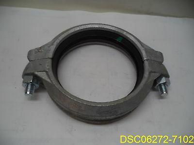 "Grinnell 6"" Mechanical Rigid Coupling with Gasket 67168.3 #772"