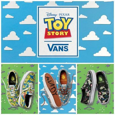 VANS X Disney Pixar Toy Story Kids Shoes Aliens Buzz Lightyear Woody Boys Girls