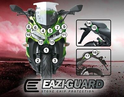 Eazi-Guard Stone Chip Paint Protection Film for Kawasaki Ninja 1000 2014 - 2016
