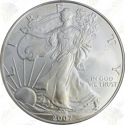2007 1 oz American Silver Eagle – Brilliant Uncirculated – SKU #1401