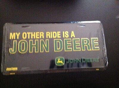 John Deere License Plate John Deere New-sealed free shipping-metal