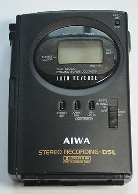 Aiwa HS-J303 Walkman Personal Cassette Player Recorder DSL AM/FM Radio UNTESTED