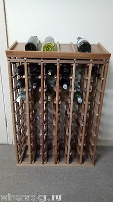 60 Bottle display Timber Wine Rack -100% Australian Hard wood ,factory seconds