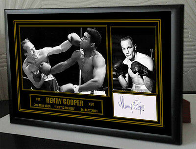 """Henry Cooper Framed Canvas Print Signed Limited Edition """"Great Gift & Souvenir"""""""