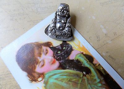 Stamped Antique Chinese Silver Child's Cap Good Luck Charm C.1900