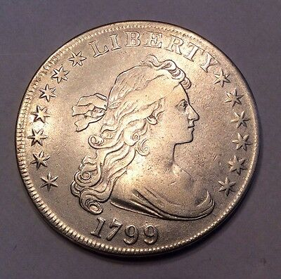 1799 Draped Bust Early Silver Dollar - 13 Stars Reverse #10157