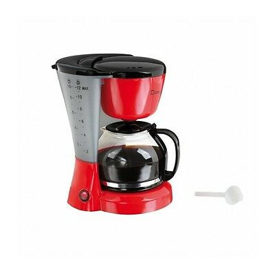 DOMOCLIP DOM163RN Cafetiere - 800W ? 1.2 L - Rouge