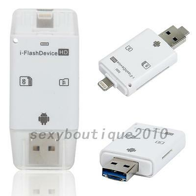 i-Flash USB Drive Micro SD TF Memory Card Reader Adapter For iPhone iPad Android
