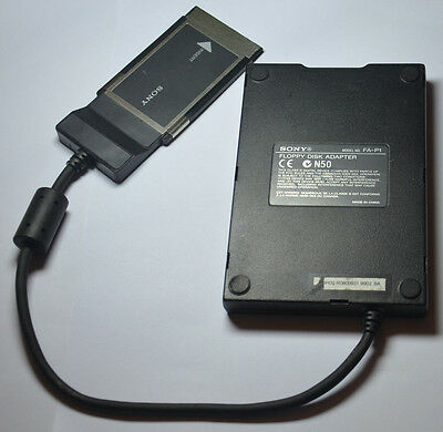 "Sony Floppy Disk Adapter FA-P1 3.5"" Inch PCMCIA for PC Laptop Notebook UNTESTED"