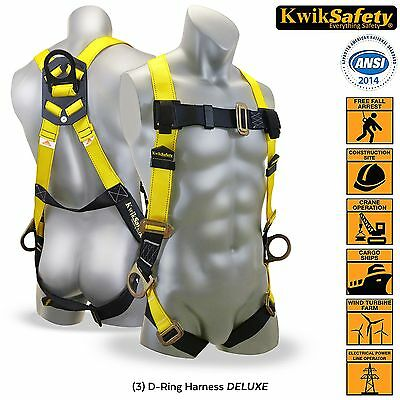Full Body Construction Harness D-Ring Back Belt Adjustable PPE Fall Protection
