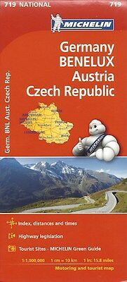 Michelin Germany Benelux, Austria, Czech Rep Map *FREE SHIPPING - NEW*