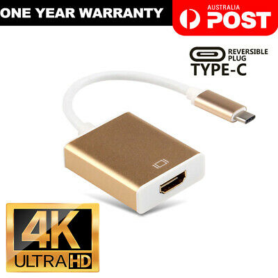 USB-C Type C USB 3.1 Male to HDMI Female HDTV 1080p Adapter Cable Cord