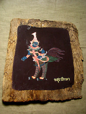 "Recycle Art of  30 Thai Paint ""Himmapan Creatures"" Beautiful & Rare Don't Miss!*"