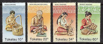 Tokelau Islands Sg81/4 1982 Handicrafts Mnh