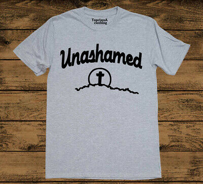 Christian T Shirt Unashamed Bible Verse Religious pastor gifts Grace Love Tee
