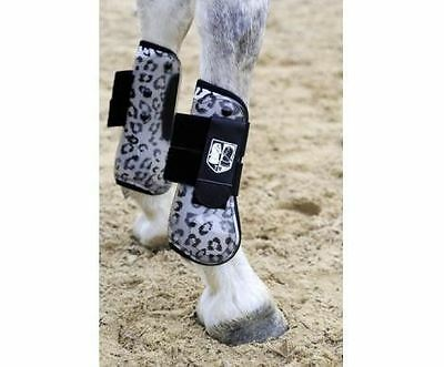 HKM Animal Print Horse Pony Riding Equestrian Protection Overreach Bell Boots