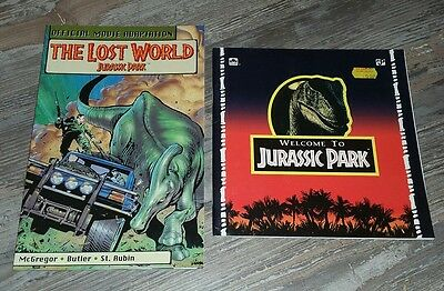 Jurassic park 2 books Lost World Kenner Graphic novel official movie adaption