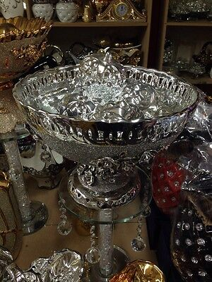 **Stunning Fruit bowl-ornament/Figurine Silver **Romany Bling**