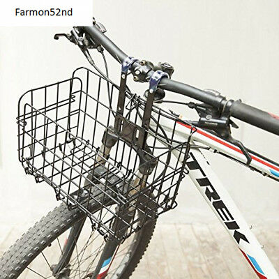 Bicycle Wire Basket for Front of Bike, Foldable