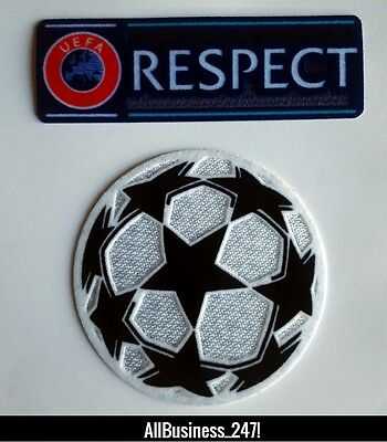 Champions League & Respect Patch Patches Logo Football Shirt-Iron On